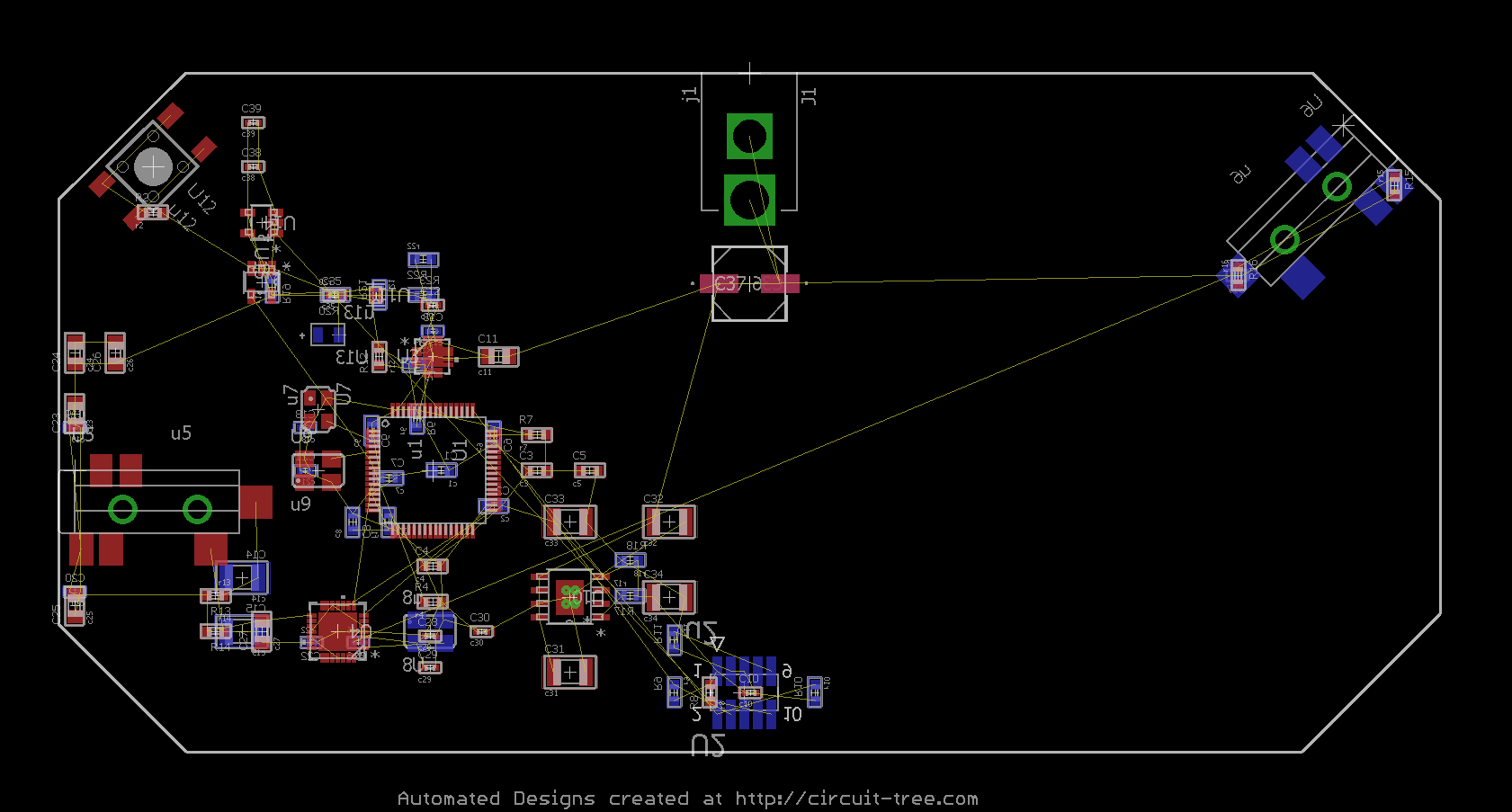 Automated intelligent component placement by circuit Tree