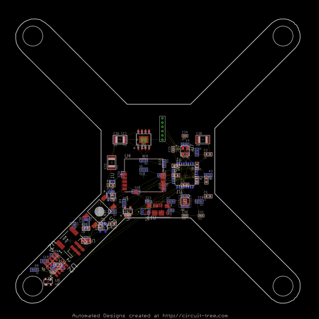 Finished Board component placement