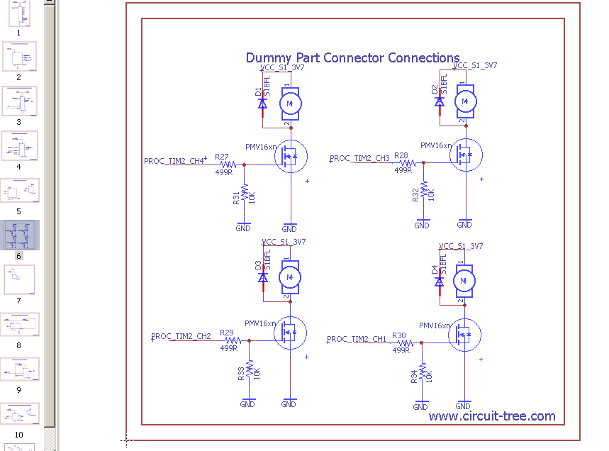 Updating dummy connector page with motors and mosfet.