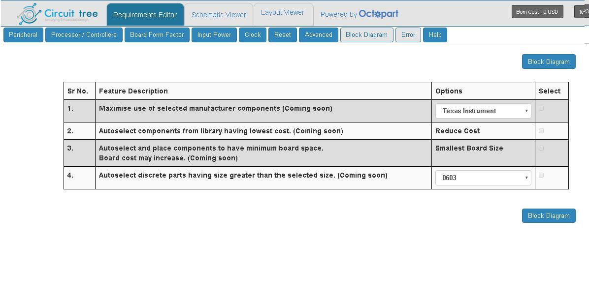Select Advanced circuit design options.